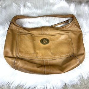 Coach Ergo XL Hobo Camel Tan Leather Beautiful!